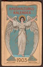 LIEBIG 1903 CALENDAR (KALENDER) VINTAGE 76 PAGE ANGEL/BLUE LARGE BOOKLET GERMAN