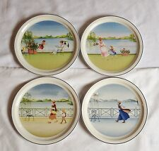 Villeroy and Boch Romantic Seasons Plates x 4 Spring, Summer, Autumn, Winter