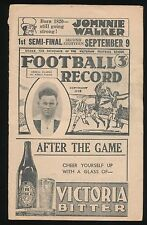 1939 1st Semi Final Record Footscray vs Geelong 2nd Eighteen RARE Football VFL