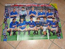 MAXI POSTER SAMPDORIA WINNER COPPA DELLE COPPE 1989-90 1990 + RETRO NAZIONALE