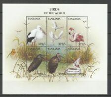 Tanzanie Oiseaux Cigogne Perroquet Owl Parrot Bird Papagei Eulen Vogel ** 1997