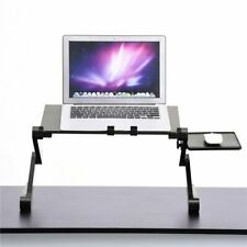 Adjustable Aluminum Laptop Desk Stand Vented Table with Cooling Fan Mouse Pad K