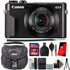 Canon PowerShot G7 X Mark II Digital Camera Black with Extra Battery + 64GB Card