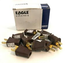 Eagle Electric Brown Straight Blade Box Of 10 Plugs