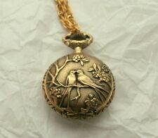 Rare Majestron Pendant Necklace Womens Love Birds Swiss Watch New NOS 1990s
