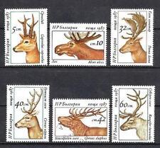 Animaux Cervidés Bulgarie (140) série complète 6 timbres neufs et oblitérés
