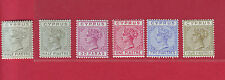R* GB CYPRUS LOT 6 V. QUEEN VICTORIA 1883-1892 MH/MNH Mi. Nr. 16-20 RARE
