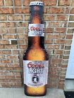 Huge Coors Light Bottle Shaped Tin Signs (NOS) (2 Available)