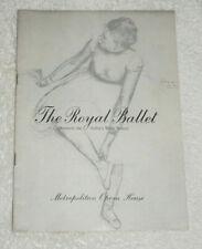 Program - The Royal Ballet (1957) Metropolitan Opera House - Coppelia