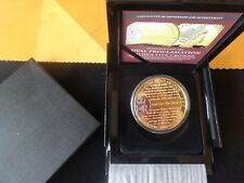 2017 GOLD PLATED PROOF TDC 5 CROWNS COIN BOX + COA ROYAL PROCLAMATION 1/2017