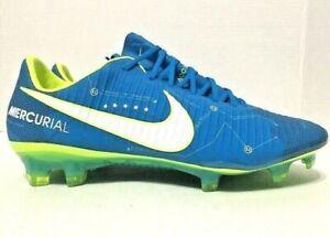 Nike Mens Mercurial Vapor XI NJR FG ACC Soccer Shoes Blue Volt 921547-400 Size 5