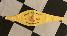 ORIGINAL 1954 INTERNATIONAL TULPEN TULIP RALLY RAC WEST COMMISIONER ARMBAND PASS