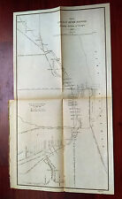 1897 Sketch Map Chicago River Locations Bridges IL Central NW St Paul Quincy RR