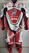 2017 MV Agusta motorbike motorcycle leather suit 100% cowhide