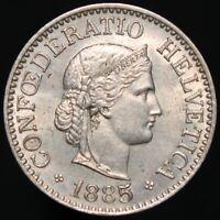 1885 | Switzerland 10 Rappen | Cupro-Nickel | Coins | KM Coins
