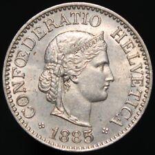 1885   Switzerland 10 Rappen   Cupro-Nickel   Coins   KM Coins