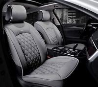 Pour Nissan Renault Citroen Housses Gris 2 Sieges Jeu Deluxe En Cuir Auto