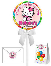 40 HELLO KITTY BIRTHDAY PARTY LOLLIPOP STICKERS ~ goody bags, seals, etc