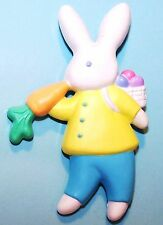 1989 Hallmark NEW Easter BOY BUNNY RABBIT w/ CARROT Pin on Card Never Used XLP22