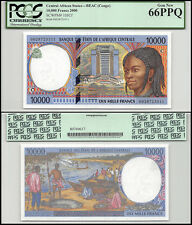 Central African States Congo 10,000 (10000) Francs, 2000,P-105Cf,UNC,PCGS 66 PPQ