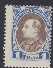 ALBANIA : 1925 President Zogu unissued 1f blue and brown  SG- mint