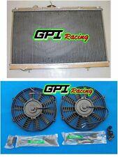 aluminum radiator &FAN MITSUBISHI EVO1/2/3 Lancer EVO 1 2 3 Race I II III