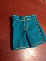 Vintage Turquoise & Yellow Vintage Barbie Doll Shorts PRETTY!