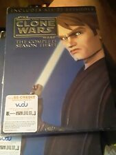 Star Wars: The Clone Wars The Complete Season Three (DVD, 2011, 4-Disc Set) New