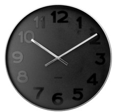 Karlsson Mr Black Numbers Wall Clock Large
