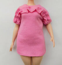 Mattel Barbie Fashionistas curvy original Kleid rosa NEU