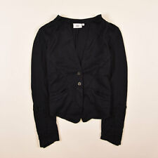 Noa Noa Damen Sakko Jacke Blazer Anzug Gr.L (D38) 100% Baumwolle Navy Blau 78586