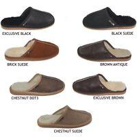 Mens sheepskin slippers genuine mules natural