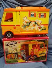 Camping Car Barbie Mattel 1974, boîte et notice, très bon état