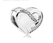 New Authentic Pandora Ribbon of love charm S925 ALE +free pandora pouch