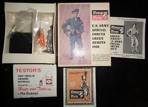Vintage 68 Monogram Merite # 802-250 1960 US Army Special Forces Green Beret Kit