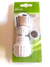 Filtro grifo atomizador de agua dos salidas ahorro adaptador universal blanco