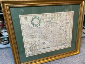 RARE antique map of North and East Yorkshire from a PRIVATE COLLECTION