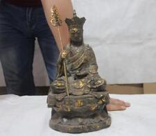 """11"""" Tibet Buddhism Bronze Copper Jizo Kshitigarbha Bodhisattva Buddha statue"""