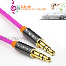 6FT Zinc OFC 3.5mm Stereo plug male to male Gold Audio IPOD AUX MP3 Cable Cord