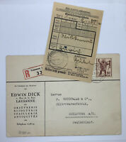 1942 LAUSANNE SWITZERLAND CENSORED COVER TO HEILBRONN GERMANY WITH CONTENTS