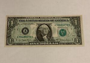 1977 $1 Wet Ink Transfer Offset  Error Note