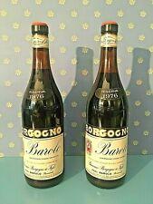 2 exceptional  bottles of BAROLO Borgogno Riserva 1976 - 2 bott. da collezione