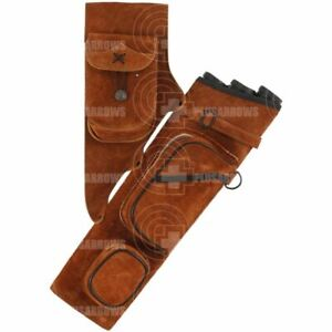 Bearpaw Leather Side Quiver Traditional Archery