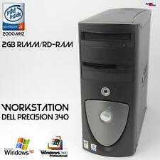 Pro Work Station Dell Precision Ws 340 Rimm Computer PC Parallel RS-232 Server
