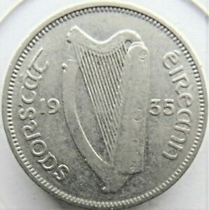 1935 IRELAND Republic, 6 Pence, Grading About VERY Fine.