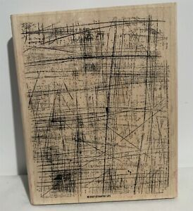 Stampin Up SANDED Texture Background Wood Rubber Stamp