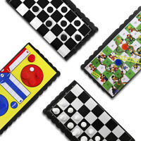 Magnetic Board Games Set of 4 Chess Ludo Snake Ladder Draughts Christmas Gift UK