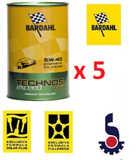 5 LITRI (4+1) OLIO BARDAHL TECHNOS EXCEED C60 5W-40 5W40 MOTORE AUTO  -TAGLIANDO