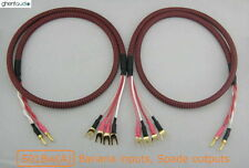 S01Bw(A) (2m 6.5ft) --- Canare Bi-Wire Speaker Audio Cable Banana(2) to Spade(4)