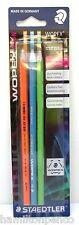 Staedtler wopex Grafito Lápices-Neon Colores Paquete De 3 Hb Lápices